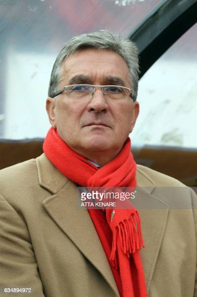 Persepolis' Croatian coach Branko Ivankovic looks on during the derby football match between Esteghlal and Persepolis at the Azadi stadium in Tehran...