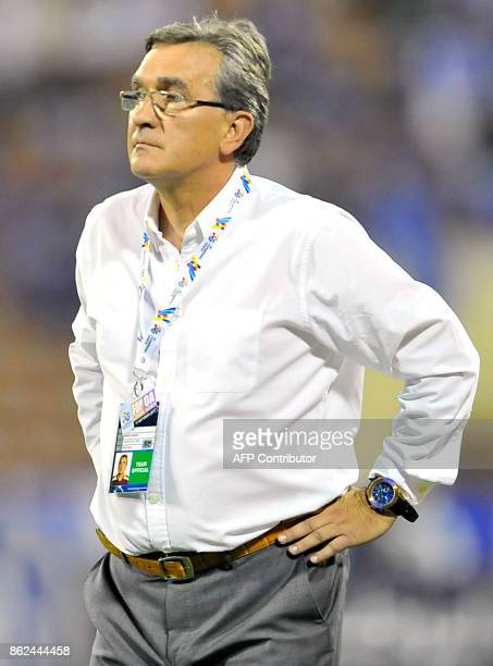 Persepolis' Croatian head coach Branko Ivankovic looks on during the Asian Champions League semifinal football match between Persepolis and AlHilal...