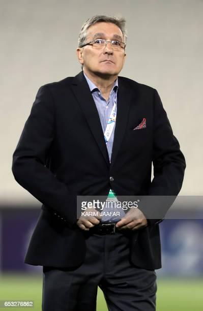 Persepolis's head coach Branko Ivankovic attends the Asian Champions League football match between Qatar's AlRayyan and Iran's Persepolis at Jassim...