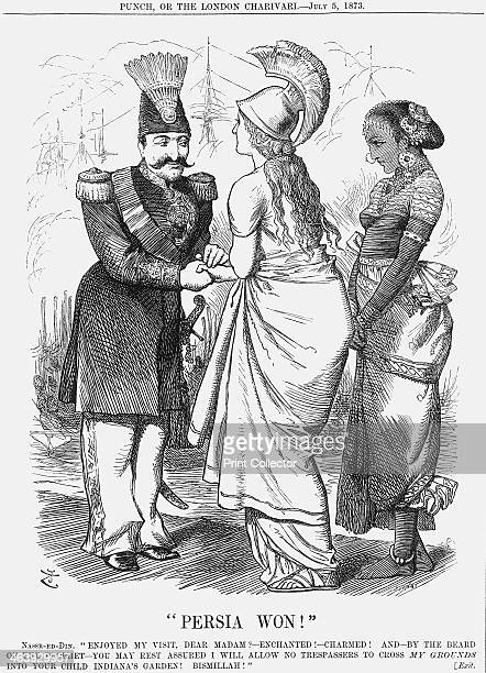 Persia Won 1873 Britannia says farewell to the Shah of Persia after his successful visit to Britain It was believed that whilst good relations were...