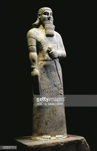 statue of assyrian king ashurbanipal from nimrud iraq