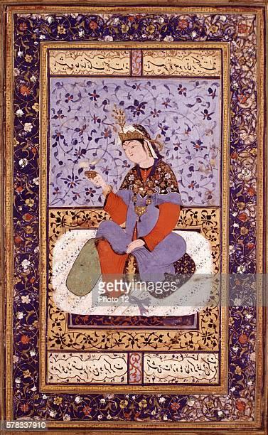 Persian miniature Boukhara school Prince Persian school 15601570 Paris musee des arts decoratifs