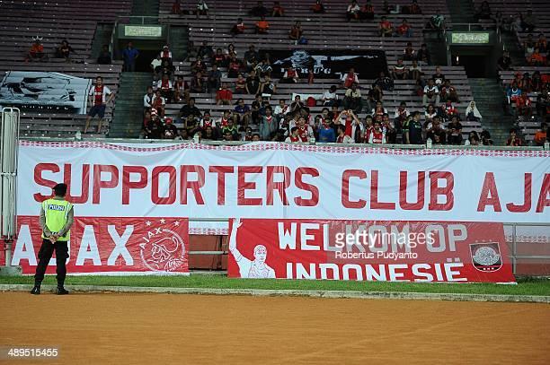 Persija Jakarta supporters during the international friendly match between Perija Jakarta and AFC Ajax on May 11 2014 in Jakarta Indonesia AFC Ajax...