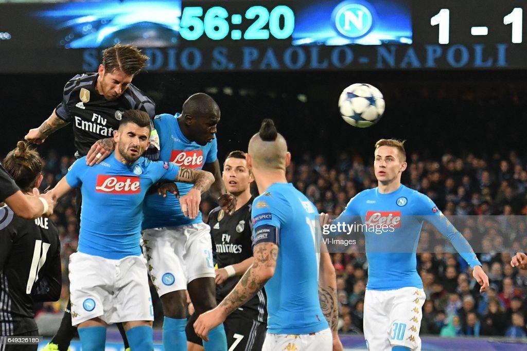 UEFA Champions League'SSC Napoli v Real Madrid' : News Photo