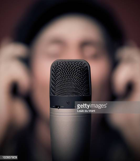 Person and Mic