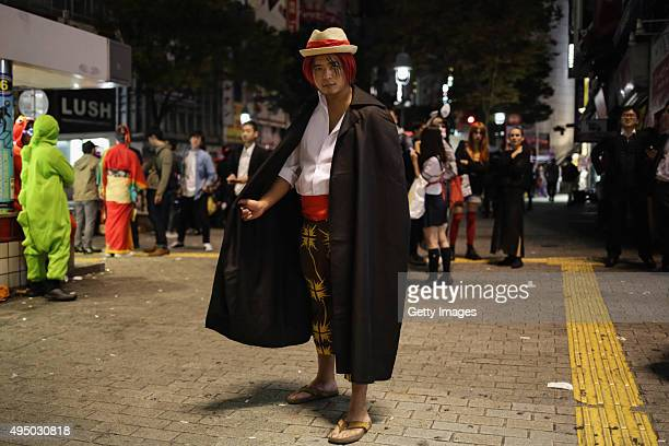 A person dressed up for Halloween poses for portraits in Shibuya district on October 30 2015 in Tokyo Japan