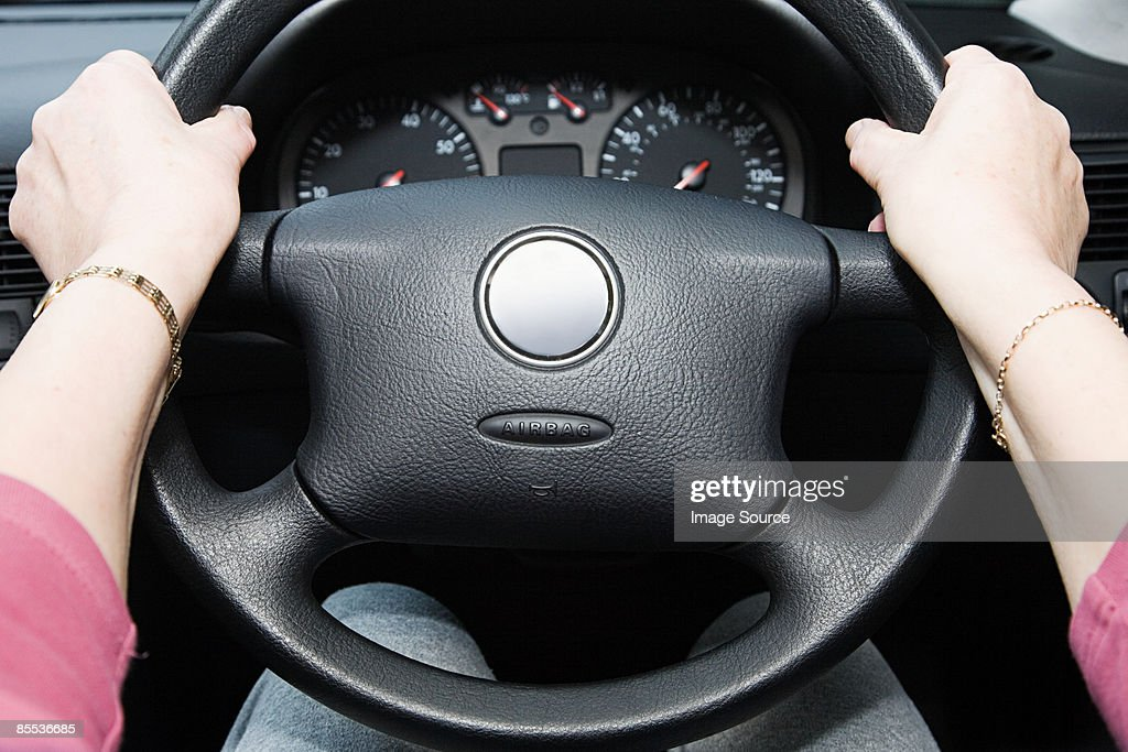 Person driving : Stock Photo