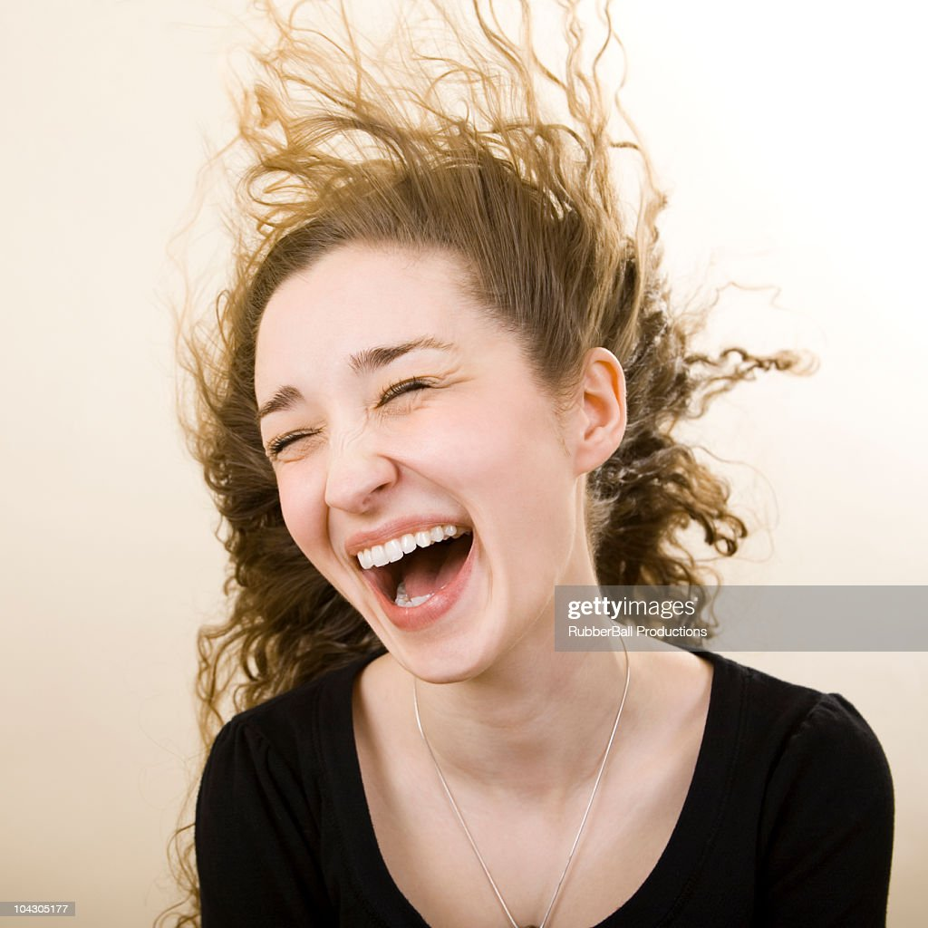 person getting wind blown in the face