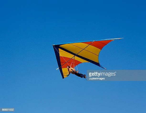 Person hang-gliding