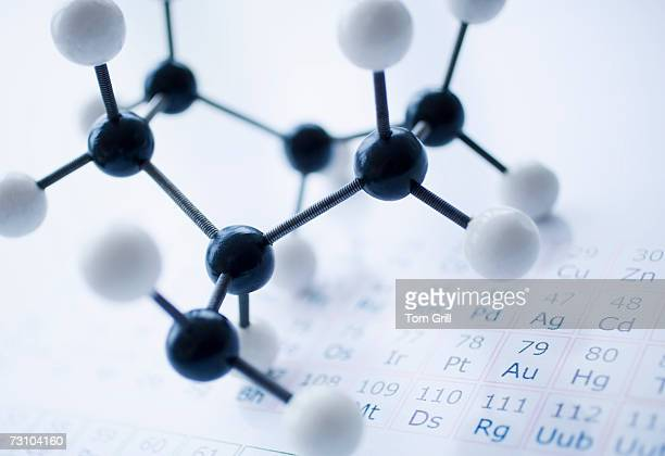 Person holding molecular structure
