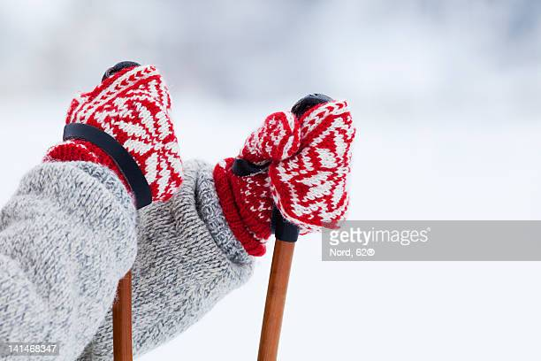 Person holding ski poles