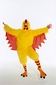 Person in chicken suit