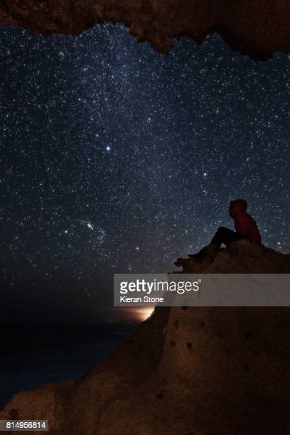 Person Looking up at the Stars