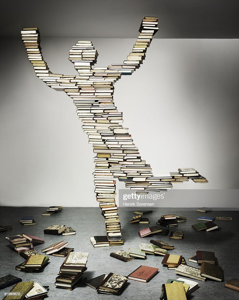 person made out of books : Stock Photo