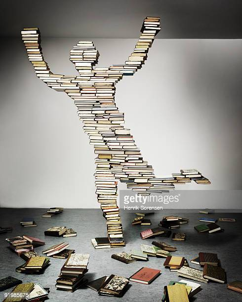 person made out of books