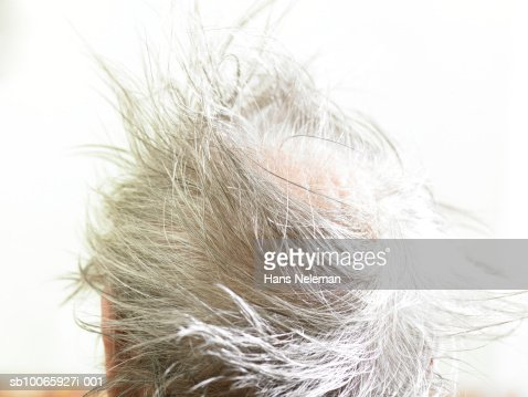 Person messy hair, close-up : Stock Photo