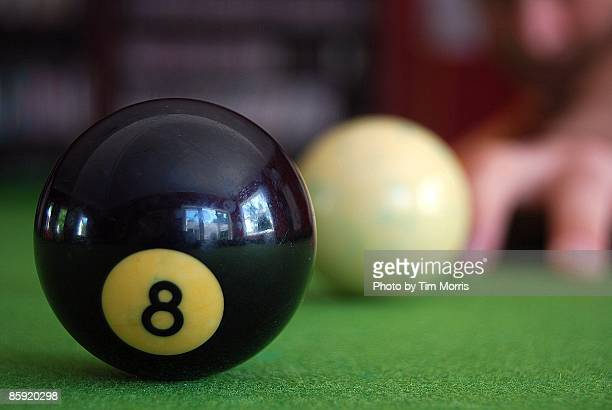 Person playing pool