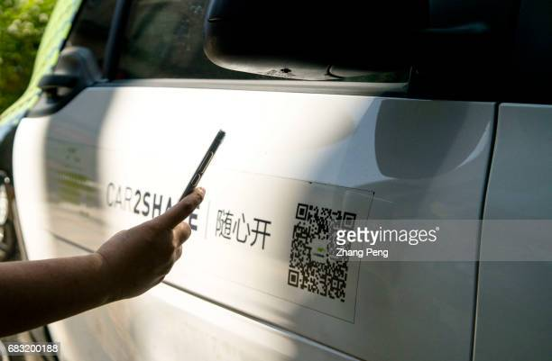 A person scans the QR code to rent a Car2Share vehicle Car2Share is a stationbased car sharing system offered by Mercedes Now Car2Share has 60...