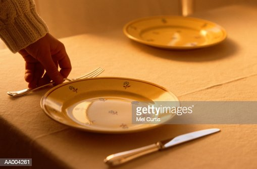Person Setting The Table Stock Photo Getty Images