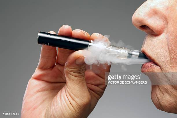 Person smoking e cigarette