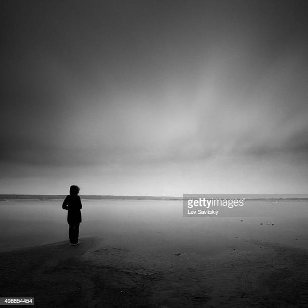 Person standing on the shore