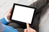 Person using tablet computer