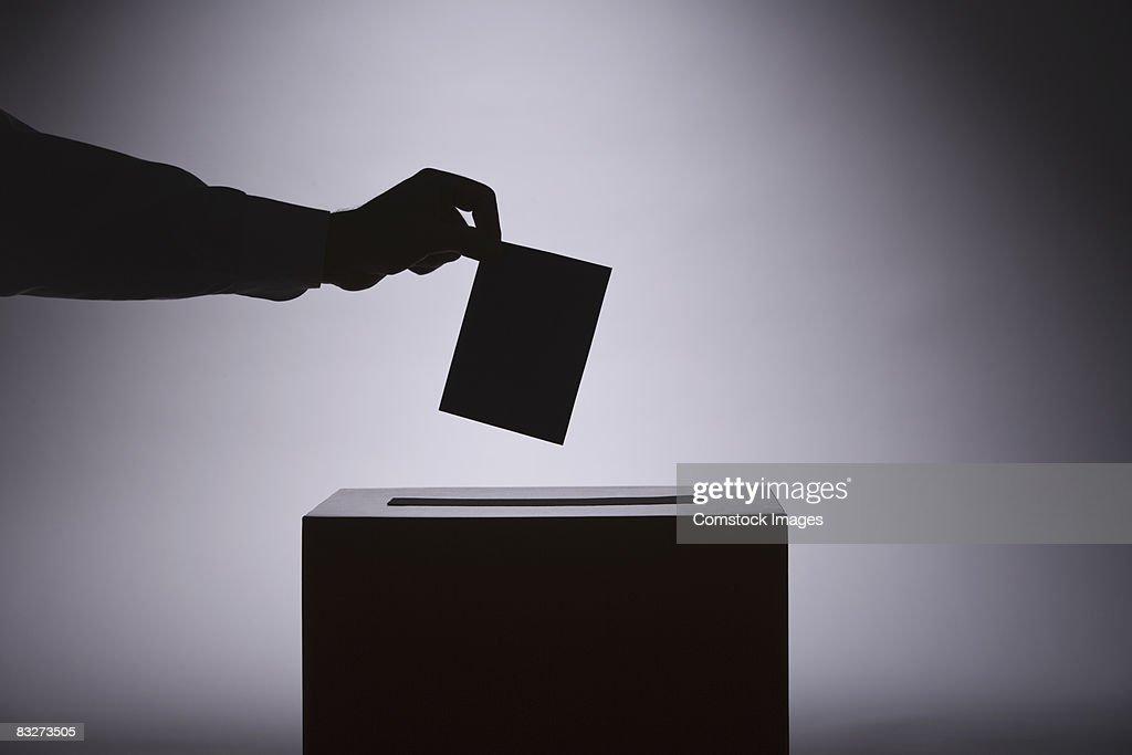 Person voting : Stock Photo