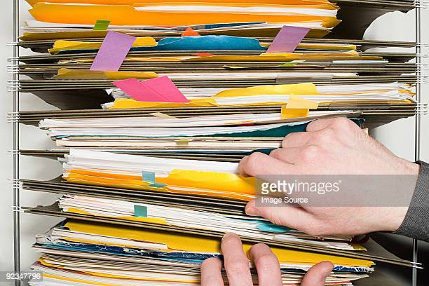 Person with files