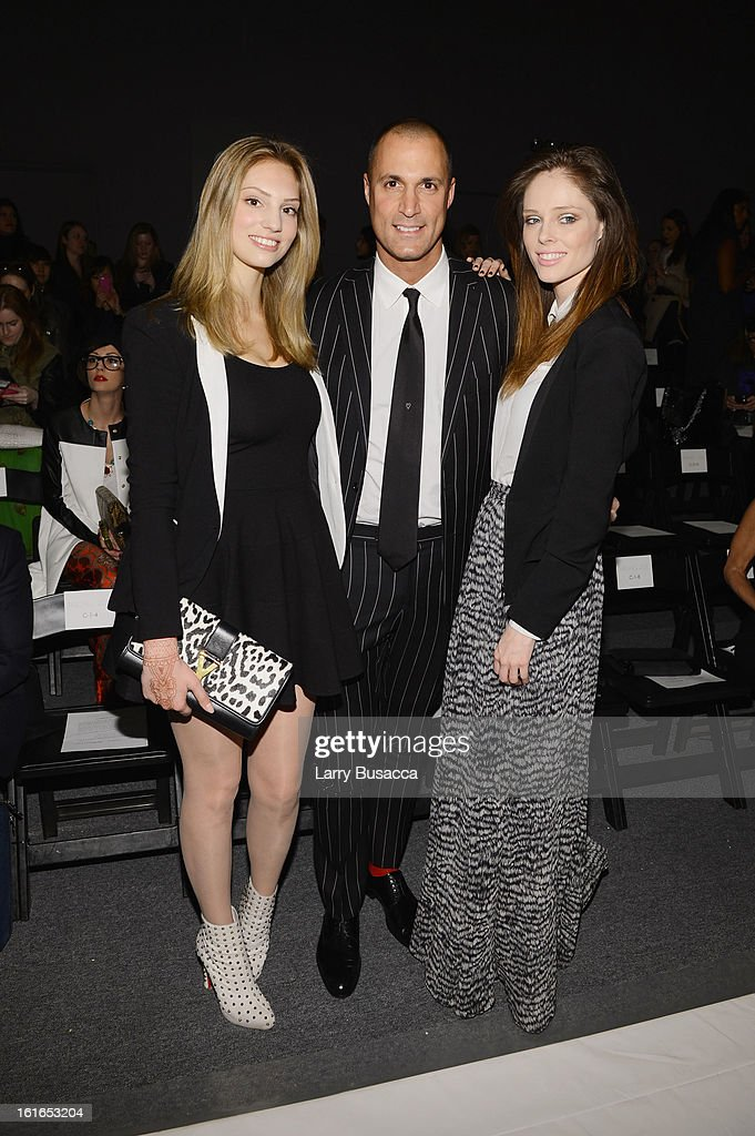 TV Personaility Nigel Barker (C) and Model Coco Rocha (R) attend the Rachel Zoe Fall 2013 fashion show during Mercedes-Benz Fashion Week at The Studio at Lincoln Center on February 13, 2013 in New York City.