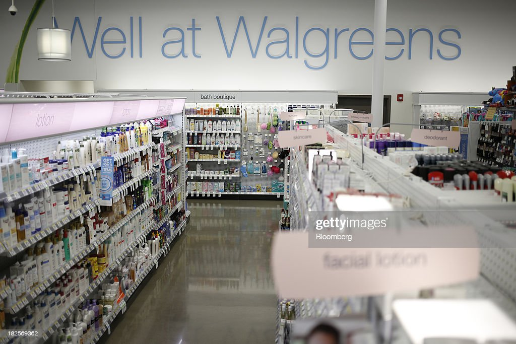 Personal care products are displayed for sale at a Walgreen Co. store in Louisville, Kentucky, U.S., on Monday, Sept. 30, 2013. Walgreen Co., the biggest U.S. drugstore chain, is expected to report fourth-quarter earnings before the opening of U.S financial markets on Oct. 1. Photographer: Luke Sharrett/Bloomberg via Getty Images