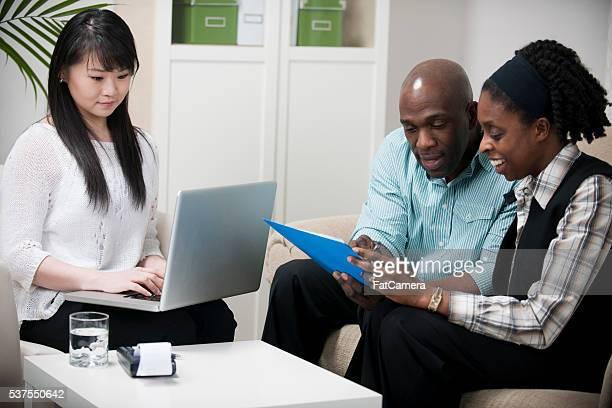 Personal Financier Helping a Married Couple