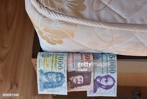 Personal forint savings : Stock Photo