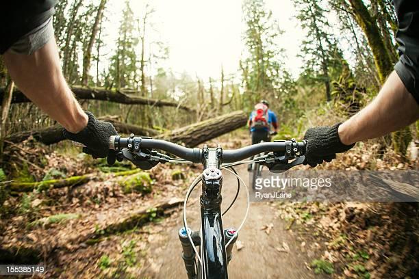 Persönliche Perspektive, downhill mountain bike Tour