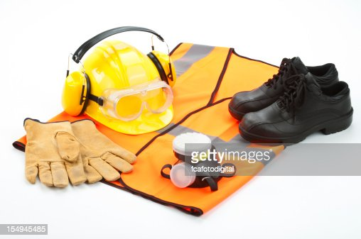 Personal safety workwear isolated on white background