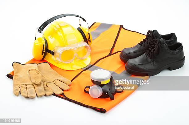 Sicurezza personale da lavoro isolato su sfondo bianco