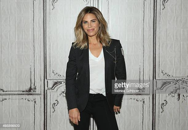 Personal trainer and TV personality Jillian Michaels visits AOL Studios for AOL Build Presents Jillian Michaels in New York on October 19 2015 in New...