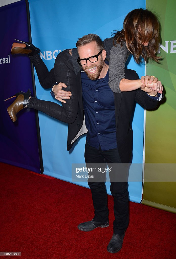 Personal trainer Bob Harper and Jillian Michaels at the 2013 TCA Winter Press Tour NBC Universal Day 1 at The Langham Huntington Hotel and Spa on January 6, 2013 in Pasadena, California.