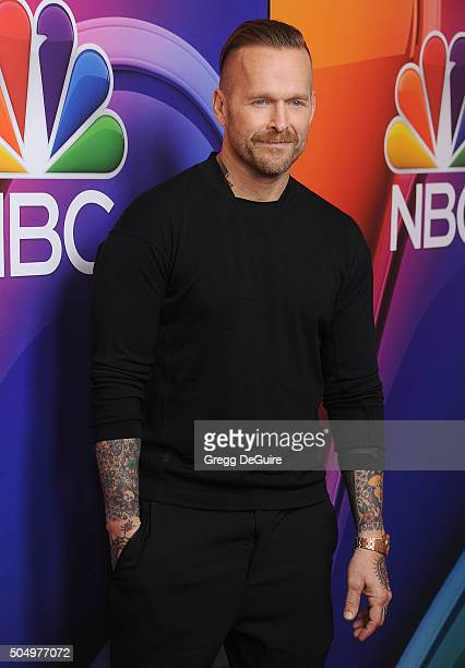 Personal trainer Bob Harper arrives at the 2016 NBCUniversal Winter TCA Press Tour at Langham Hotel on January 13 2016 in Pasadena California