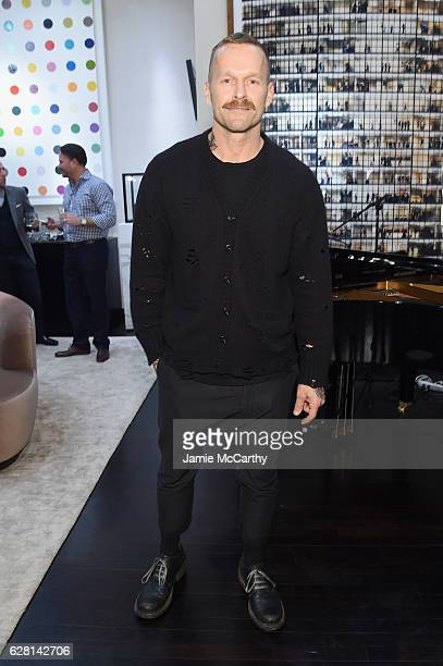 Personal trainer Bob Harper attends the celebration of MATERIAL GOOD's 1st Anniversary with Chrissy Teigen John Legend on December 6 2016 in New York...