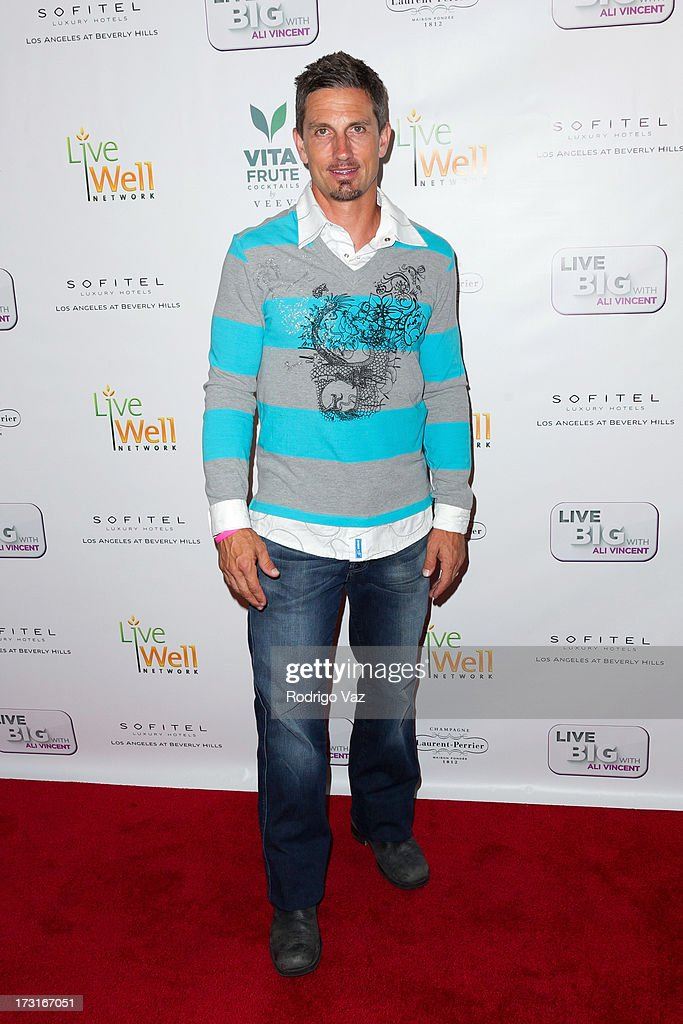 Personal trainer Marco Reed arrives at 'Live Big With Ali Vincent' Season 3 launch party at Sofitel Hotel on July 8, 2013 in Los Angeles, California.