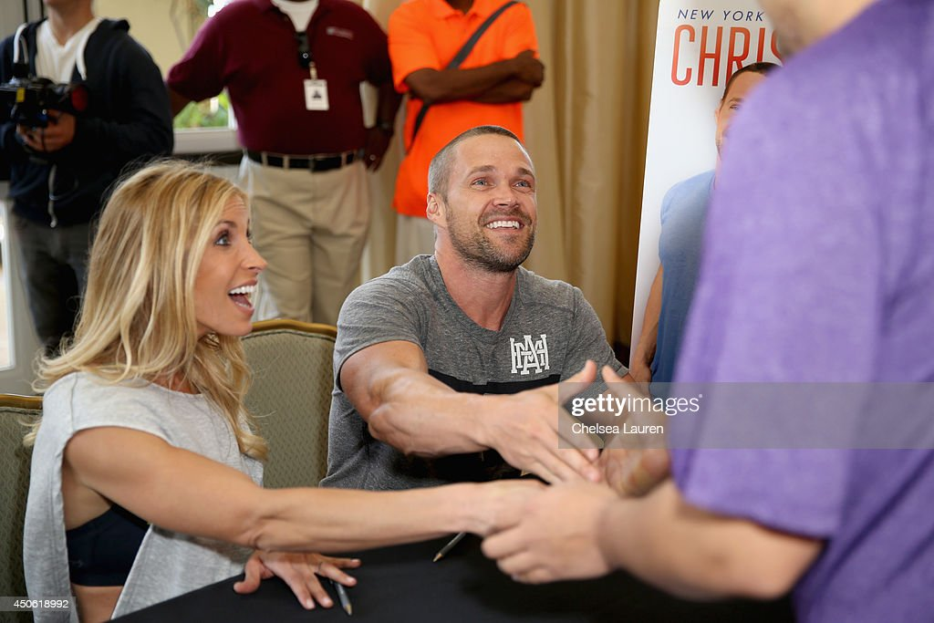 Personal trainers Heidi (L) and Chris Powell attend OK! Body & Soul 2014 at The Casa Del Mar Hotel on June 14, 2014 in Santa Monica, California.