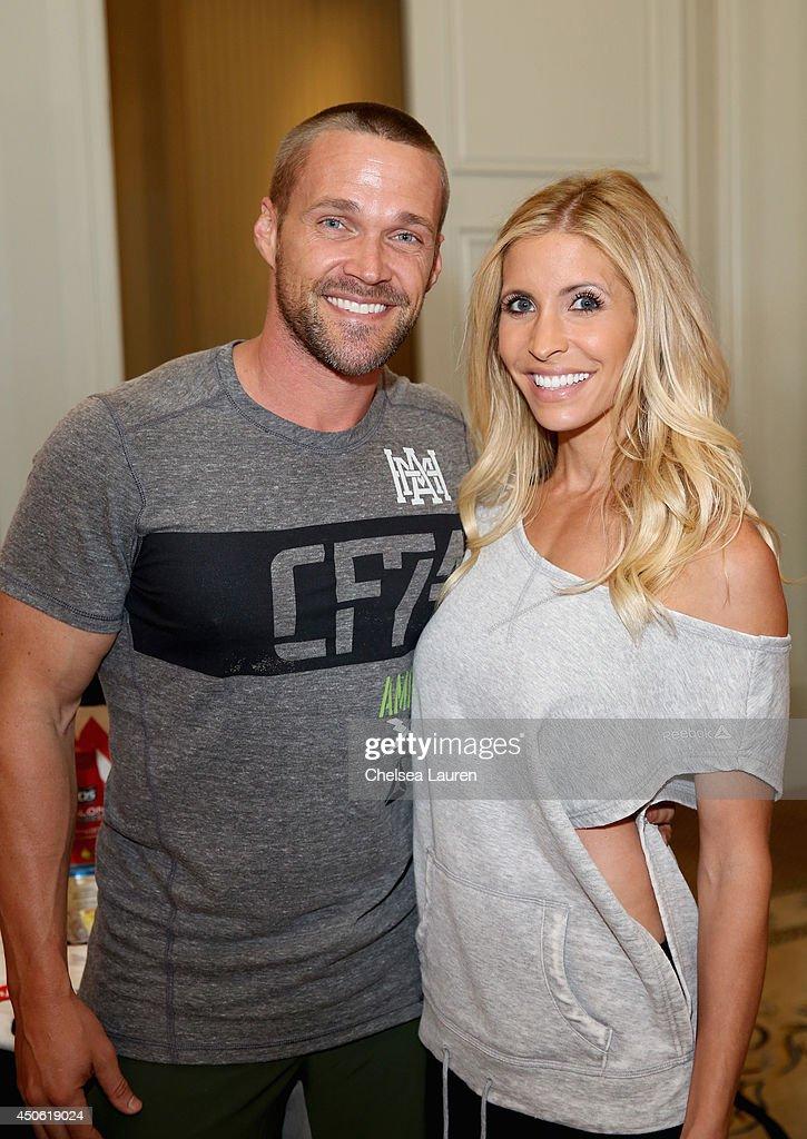 Personal trainers Heidi (R) and Chris Powell attend OK! Body & Soul 2014 at The Casa Del Mar Hotel on June 14, 2014 in Santa Monica, California.