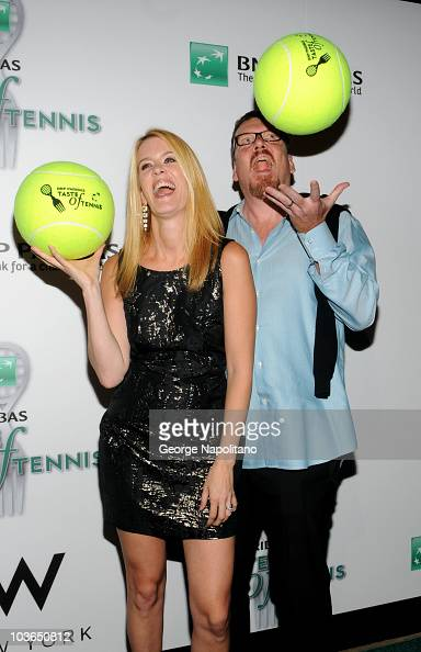 TV personalities Alex McCord and Simon Vsn Kempen attend the 11th annual BNP Paribas Taste Of Tennis>> at the W New York on August 26 2010 in New...