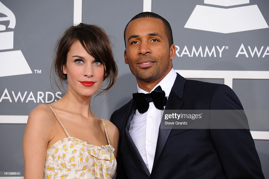 TV personalities Alexa Chung (L) and Matte Babel attend the 55th Annual GRAMMY Awards at STAPLES Center on February 10, 2013 in Los Angeles, California.