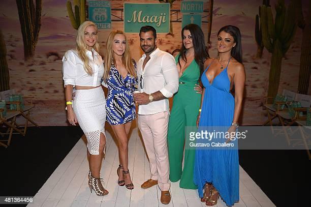TV personalities Alexia Echevarria Marysol Patton Shervin Roohparvar Leila Gharachedaghi and Golnesa Gharachedaghi attend the Maaji Swimwear fashion...