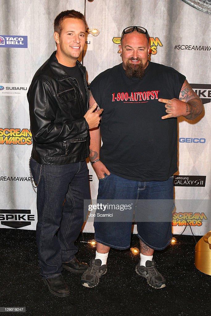 TV Personalities Allen Lee Haff (L) and Clinton Jones arrive at Spike TV's 'SCREAM 2011' awards held at the Universal Studios Backlot on October 15, 2011 in Universal City, California.