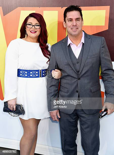 TV personalities Amber Portwood and Matt Baier attend The 2015 MTV Movie Awards at Nokia Theatre LA Live on April 12 2015 in Los Angeles California
