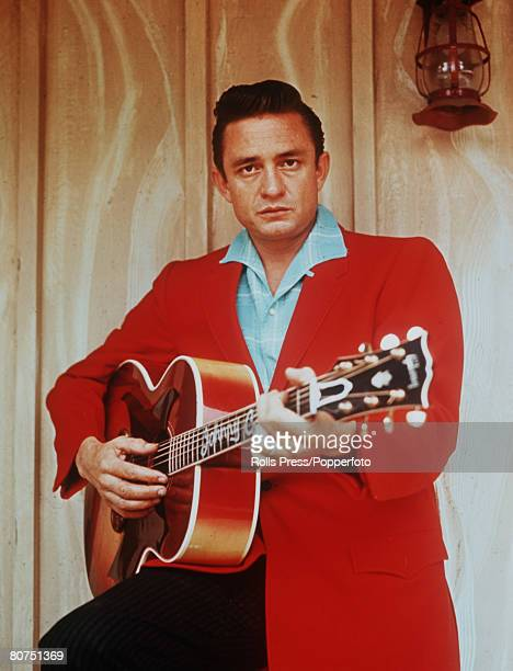 Personalities American Country and Western singer Johnny Cash