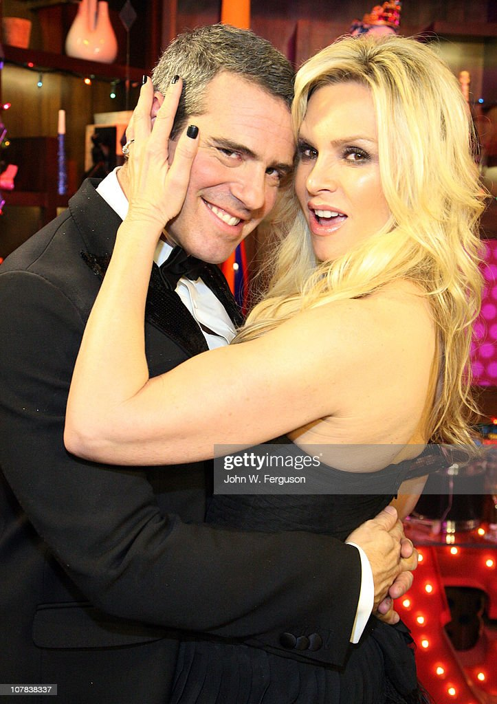 TV personalities Andy Cohen and Tamra Barney attend Bravo's 'Watch What Happens Live: Andy's New Year's Party' at the Bravo Club House at the Embassy Row Production Offices on December 31, 2010 in New York City.