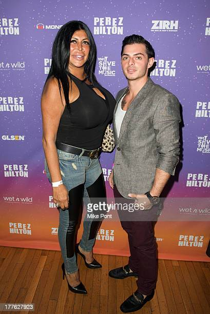 Personalities Angela 'Big Ang' Raiola and Louis Galletta attend Perez Hilton's One Night In Brooklyn at Music Hall of Williamsburg on August 24 2013...